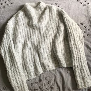 Aerie size L mock neck wool sweater.